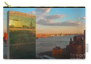 United Nations Secretariat With Chrysler Building Reflection Carry-all Pouch