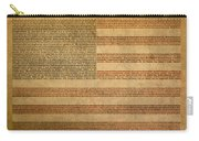 Famous Patriotic Quotes American Flag Word Art Carry-all Pouch by Design Turnpike