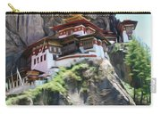 Famous Tigers Nest Monastery Of Bhutan 7 Carry-all Pouch