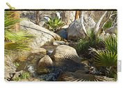 Fan Palm Leaves And Shadows Over Andreas Creek Rocks In Indian Canyons-ca Carry-all Pouch