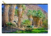 Fan Palms By The Creek In Lower Palm Canyon In Indian Canyons Near Palm Springs-california Carry-all Pouch