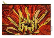 Fanciful Bold Floral Mosaic Carry-all Pouch