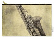 Fancy Antique Saxophone In Pastel Carry-all Pouch
