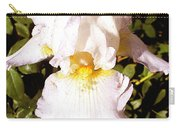 Fancy Lady White Iris Carry-all Pouch