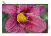 Fancy Red Wine Daylily Carry-all Pouch