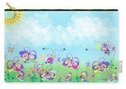 Fantasy Flower Garden - Childrens Digital Art Carry-all Pouch