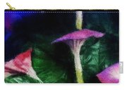 Fantasy Flowers Embossed Hp Carry-all Pouch