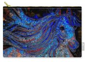 Fantasy Horse Mosaic Blue Carry-all Pouch