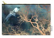 Seagull Gothic Fantasy Surreal Trees And Seagull Flying Carry-all Pouch