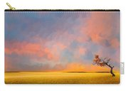 Far Away Sunset With Old Tree Carry-all Pouch