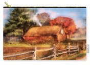 Farm - Barn - Our Cabin Carry-all Pouch by Mike Savad