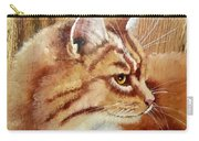Farm Cat On Rustic Wood Carry-all Pouch