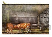 Farm - Cow - A Couple Of Cows Carry-all Pouch by Mike Savad