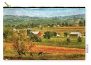 Farm - Cow - Cows Grazing Carry-all Pouch by Mike Savad