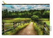 Farm - Fence - Every Journey Starts With A Path  Carry-all Pouch
