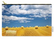 Farm Field With Hay Bales Carry-all Pouch by Elena Elisseeva