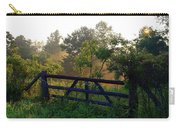Farm Gate In Morning Light Carry-all Pouch