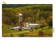 Farm View With Mountains Landscape Carry-all Pouch