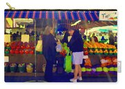Farmers Market Bushels And Baskets Of Apples Fruit And Vegetables Food Art Scenes Carole Spandau Carry-all Pouch
