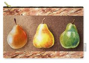 Farmers Market Drive Through Red Yellow And Green Pear Carry-all Pouch