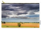 Farmhouse In The Storm Panorama Carry-all Pouch