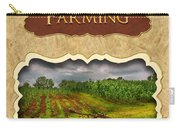 Farming And Country Life Button Carry-all Pouch