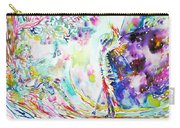 Fashion Lady And Death Under A Tree Carry-all Pouch