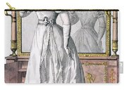Fashion Plate Of A Lady In Evening Carry-all Pouch