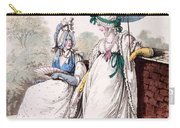 Fashion Plate Of Ladies Morning Dress Carry-all Pouch