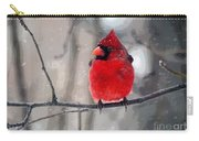 Fat Cardinal In The Snow Carry-all Pouch