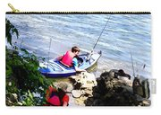 Father And Son Launching Kayaks Carry-all Pouch
