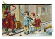 Father Christmas Disembarking Train Carry-all Pouch
