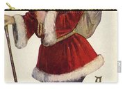 Father Christmas With A Bag Of Toys Carry-all Pouch