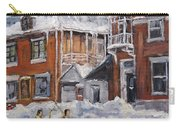 Faubourg A Melasse Montreal - Joys Of Winter By Prankearts Carry-all Pouch