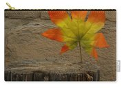 Faux Leaf Carry-all Pouch