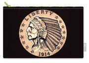 Fawn Gold Quarter Eagle Carry-all Pouch