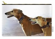 Fawn Greyhound Dogs Profile Carry-all Pouch