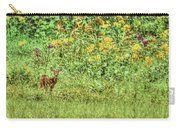 Fawn In Flowers Carry-all Pouch
