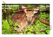 Fawn In The Forest - Inspirational - Religious Carry-all Pouch