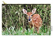Fawn In The Grass Carry-all Pouch by Marty Koch