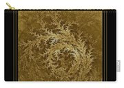 Fear Of The Forest-2 Framed Black And Gold Carry-all Pouch