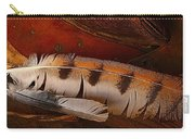 Feather And Leather Carry-all Pouch