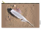 Feather On Damp Sand Carry-all Pouch