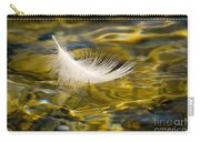 Feather On Golden Water Carry-all Pouch