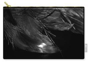 Feathers In Black And White Carry-all Pouch