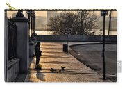 Feeding The Birds At Dawn Carry-all Pouch by Bill Cannon