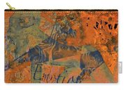 Feel Emotion Orange And Green Carry-all Pouch