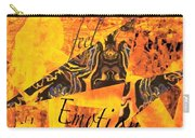 Feel Emotion Yellow And Black Carry-all Pouch