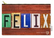 Felix License Plate Name Sign Fun Kid Room Decor Carry-all Pouch