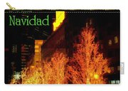 Feliz Navidad - Merry Christmas In New York - Trees And Star Holiday And Christmas Card Carry-all Pouch